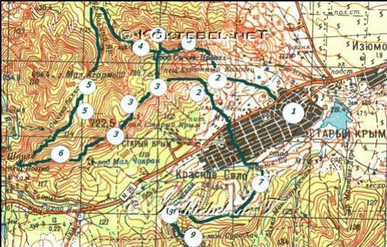 Нитка маршрута (см. карту):