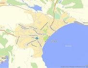 Cхема-карта Yandex, Коктебель, Крым